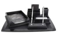 Набор офисный  6 предметов черный дуб 06202